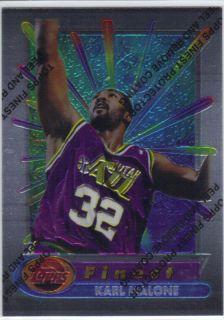 Karl Malone 1994 95 Topps Finest 195 Utah Jazz