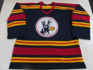 Vintage KC Kansas City Scouts NHL hockey replica jersey 1974 75 blank
