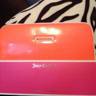 Authentic Juicy Couture Laptop Case 13 Sleeve Case Orange Sequin