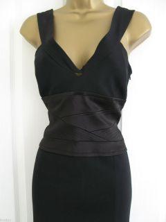 Karen Millen Black Corset Style Dress Size UK 10