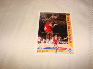 Karl Malone Utah Jazz West All Star Upper Deck 91 92 Card 51