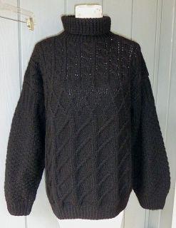 Katharine Hamnett Vtg Black Wool Cable Knit Sweater S