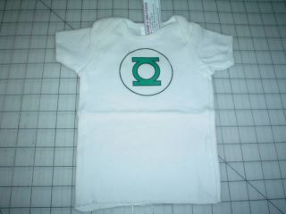 New Handmade Green Lantern Onesie T Shirt XL 19 21 Lb