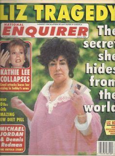 National Enquirer Elizabeth Taylor Kathie Lee Gifford