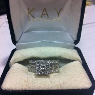 Kay Jewelers 1 Carat Diamond Engagement Ring With Wedding Band Set 14K