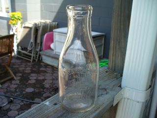 Keith Sons Dairy Embossed Quart Milk Bottle Blair County Altoona