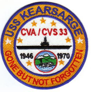 US Navy Aircraft Carrier Patch USS Kearsarge CVA CVS 33 GBNF Y