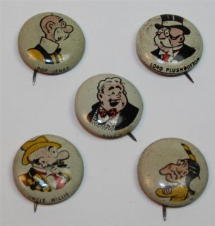 Kelloggs Pep Pins Group of 5 1940s Vintage Group 4