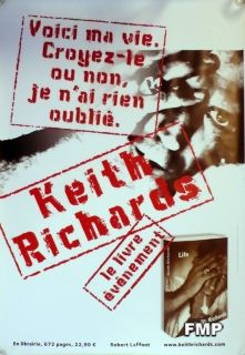 Keith Richards Rolling Stone RARE Life Book Poster