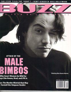 Keanu Reeves Buzz Magazine 4 95 Male Bimbos