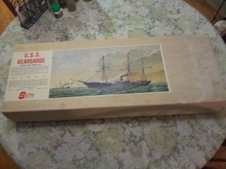 Vintage USS Kearsarge Wood SHIP Model Kit