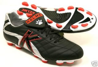 New Kelme Champion II TRX4 FG Soccer Cleats Black Leather with Red