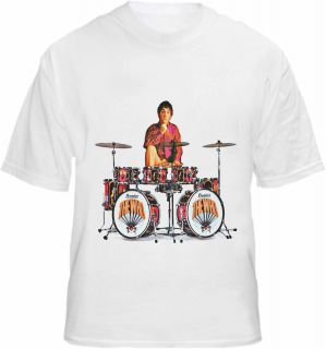 The Who T Shirt Keith Moon Drum Kit Lily Inspired Tribute Tee