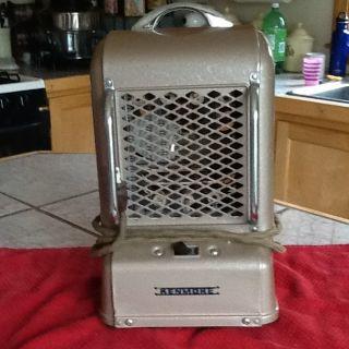 Vintage Kenmore Potable Space Heater Original Cloth Wire Cord Home