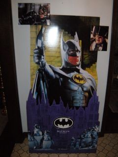 Batman Returns Cardboard Standup Michael Keaton Michelle Pfeiffer DC