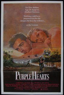 Purple Hearts 1984 Ken Wahl Cheryl Ladd 1SHT Poster