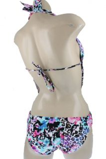 Kenneth Cole New Multi Color Printed Draped Plunge Monokini One Piece