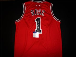Derrick Rose Signed Autographed Red Chicago Bulls Jersey PSA DNA MVP