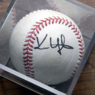 Kenny Lofton 1995 World Series Autographed Baseball