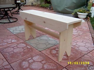 Handmade 36 Wooden Bench Different Sizes