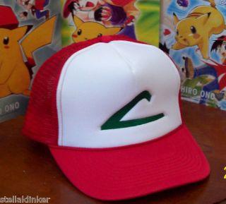 Pokemon Ash Ketchum Cap Hat Anime Cosplay Halloween Costume