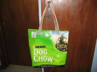 Reusable Recyle Eco friendly shopping tote bag. Recycled Purina Dog