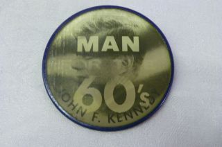 1960 JOHN KENNEDY FLICKER BUTTON JFK FLASHER PIN BACK CAMPAIGN VARI