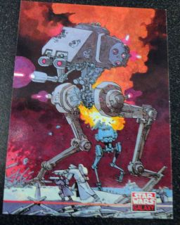 At St Imperial Walker Star Wars Galaxy 2 Card 256 Kevin ONeill
