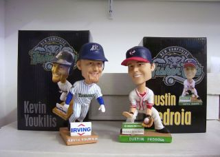 Kevin Youkilis Dustin Pedroia Red Sox NH Fishercats Bobble Bobblehead