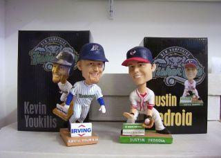 Kevin Youkilis Dustin Pedroia Red Sox NH Fishercats Bobble Bobblehead