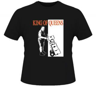 King of Queens Comedy Funny Kevin James Black T Shirt