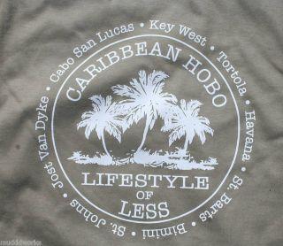 Caribbean Hobo T Shirt Key West Havana Parrot Cuba
