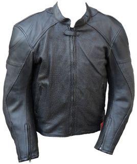 Mens Summer motorbike Motorcycle Leather Jacket