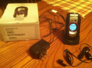 Casio GZone Boulder Black Silver Verizon Cellular Phone