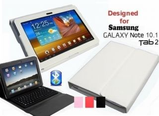 Samsung Galaxy Note 10.1 Tab 2 Tab2 Bluetooth Keyboard Leather Case