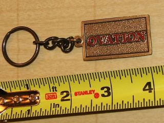 Vintage Ovation Guitar Metal Key Ring Fob