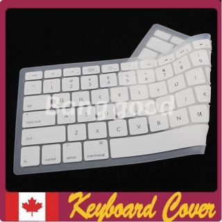 White Silicone Laptop Keyboard Cover Skin Protector for Apple MacBook