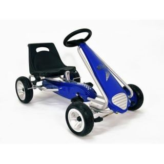 New Sale Kettler Pole Position Blue Racer Pedal Car on Off Road Tires