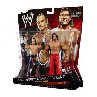 WWE Mattel Matt Hardy Great Khali Series 8 Tag Team 2 Pack Figures