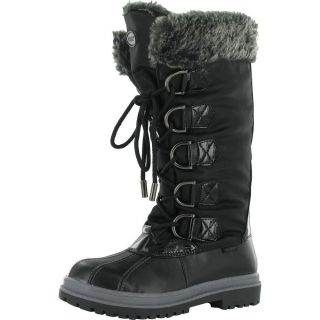 KHOMBU BIRCH HIGH WOMENS SNOW BOOTS BLACK SIZE 8 MEDIUM WIDTH NEW IN