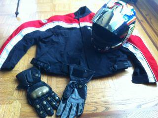 Joe Rocket Ballistic Motorcycle Jacket and Kevlar Leather Glove New