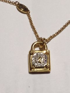 New Authentic Juicy Couture Lock Gold Necklace