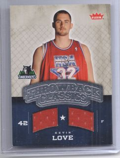 Minnesota Timberwolves Kevin Love Throwback Classics Dual Rookie