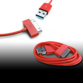 2M 6FT New Red USB Data Sync Charger Cable For iPod Touch iPhone 4S 4G