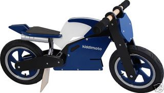 Kiddimoto Push Balance Bike Blue Superbike Motorcycle