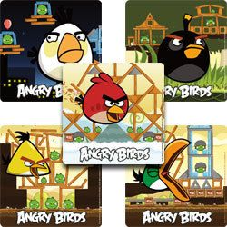 15 ANGRY BIRDS GAME Stickers Kids Birthday Party Goody Loot Bag Favors