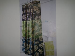 Nautica Key Largo Floral Shower Curtain Purple Grn Teal