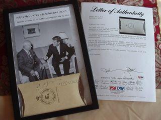 NIKITA KHRUSHCHEV AUTOGRAPH 1954 SIGNED  JOHN KENNEDY JFK MEETING RARE
