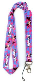 Kids Pink Blue Minnie Mouse Neck Lanyard Cell Badge ID Card Holder
