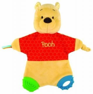 Kids Preferred Classic Pooh Flat Blanky Teether